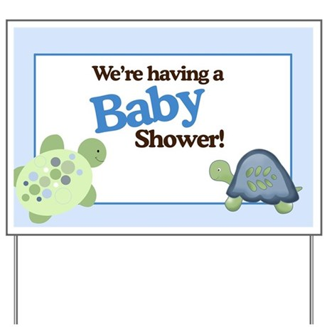 turtle reef baby shower yard sign by artbyjessie