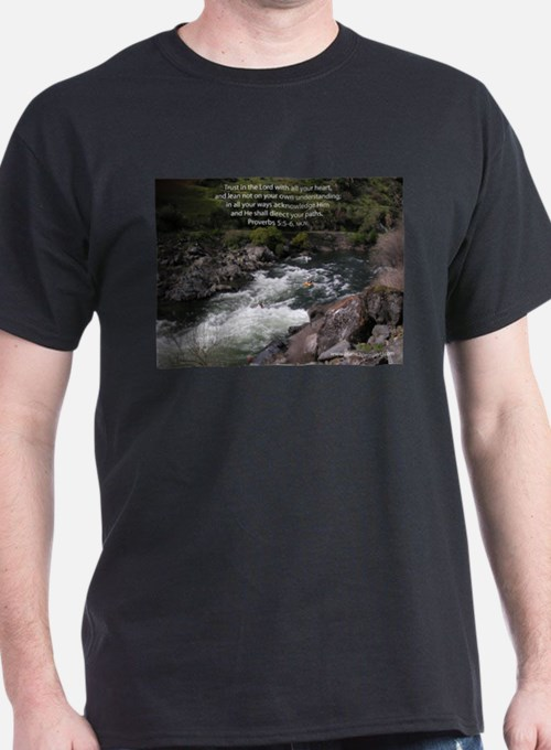 Trust in the Lord Proverbs Kayak Ash Grey T-Shirt