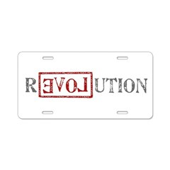Revolution Aluminum License Plate