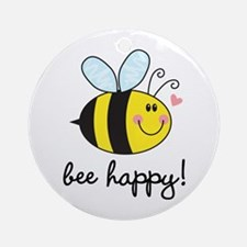 Bee Happy Ornament (Round)