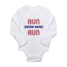 Run... Run Long Sleeve Infant Bodysuit