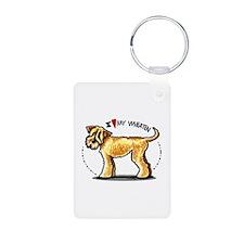 Wheaten Terrier Lover Aluminum Photo Keychain