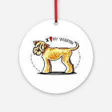 Wheaten Terrier Lover Ornament (Round)