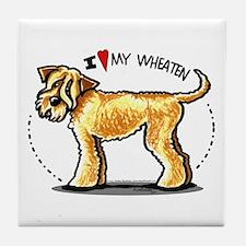 Wheaten Terrier Lover Tile Coaster