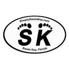 Siesta Key Oval Decal