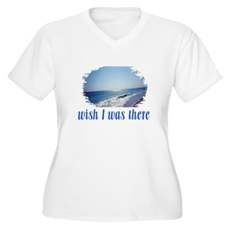 Beach/Ocean Wish I Was There Women's Plus Size V-N