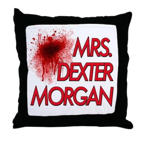 Mrs. Dexter Morgan Throw Pillow