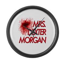 Mrs. Dexter Morgan Large Wall Clock