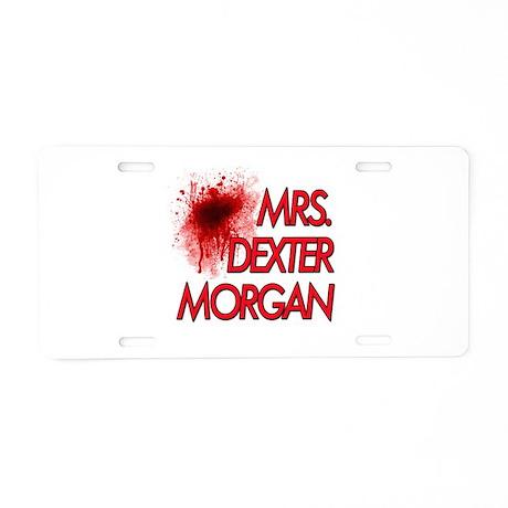 Mrs. Dexter Morgan Aluminum License Plate