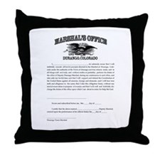 Durango Marshal Throw Pillow