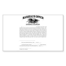 Durango Marshal Decal