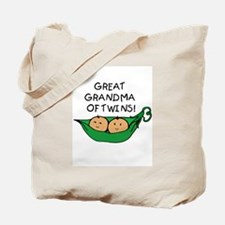 Great Grandma Twins Pod Tote Bag