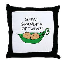 Great Grandma Twins Pod Throw Pillow