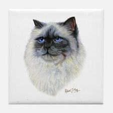 Birman Cat Tile Coaster