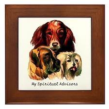 Doggie Philosophers Framed Tile