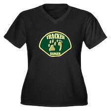 Tracker Ranger Women's Plus Size V-Neck Dark T-Shi