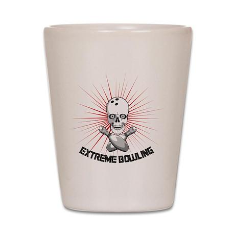 Extreme Bowling Skull Shot Glass
