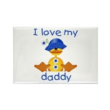 I love my daddy (girl ducky) Rectangle Magnet