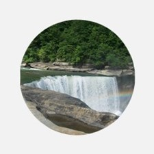 """Rainbow at the Falls 3.5"""" Button (100 pack)"""