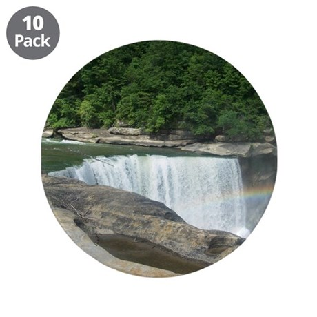 """Rainbow at the Falls 3.5"""" Button (10 pack)"""