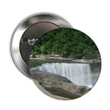 """Rainbow at the Falls 2.25"""" Button"""