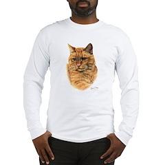 Red Tabby Cat Long Sleeve T-Shirt