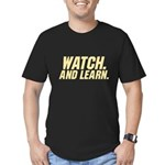 Watch & Learn Men's Fitted T-Shirt (dark)