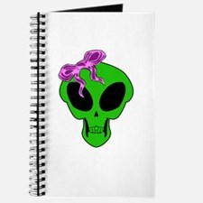 Gothic Alien Girl Skull V1 Journal