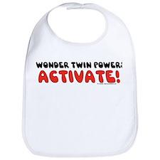Wonder Twin Text Bib