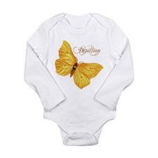 Papillion Long Sleeve Infant Bodysuit