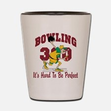 Bowling 300 Hard To Be Perfect Shot Glass