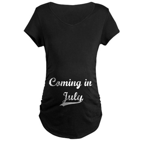 Coming in July Maternity Dark T-Shirt