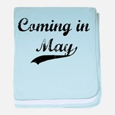 Coming in May baby blanket