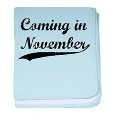 Coming in November baby blanket