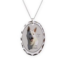 White German Shepherd Necklace