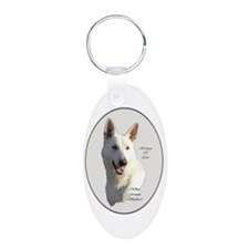 White German Shepherd Keychains