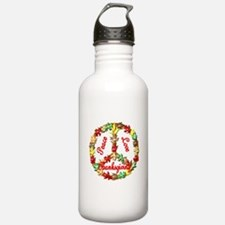 Thanksgiving Peace Sign Water Bottle