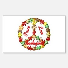 Thanksgiving Peace Sign Decal