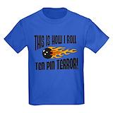 Ten pin bowling Kids T-shirts (Dark)