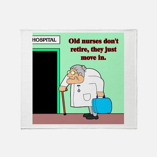 Old nurses Throw Blanket