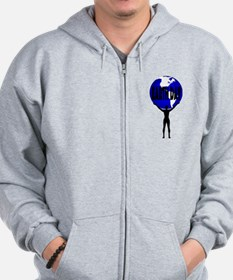 Earth Day Support Zip Hoodie