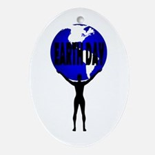Earth Day Support Ornament (Oval)