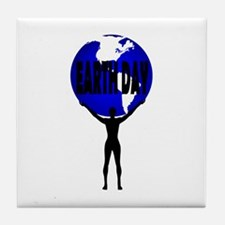Earth Day Support Tile Coaster