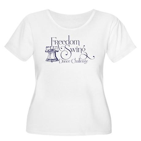 Freedom Swing Women's Plus Size Scoop Neck T-Shirt