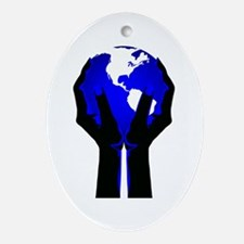 Beautiful Planet Earth Ornament (Oval)