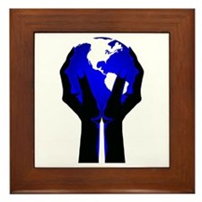 Beautiful Planet Earth Framed Tile