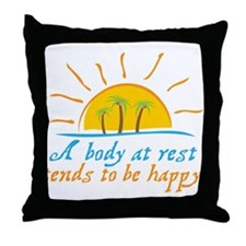 A Body at Rest Throw Pillow