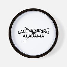 Laceys Spring Alabama Wall Clock