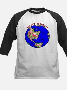 Meat World Kids Baseball Jersey