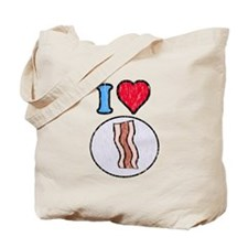 Vintage I heart Bacon Tote Bag
